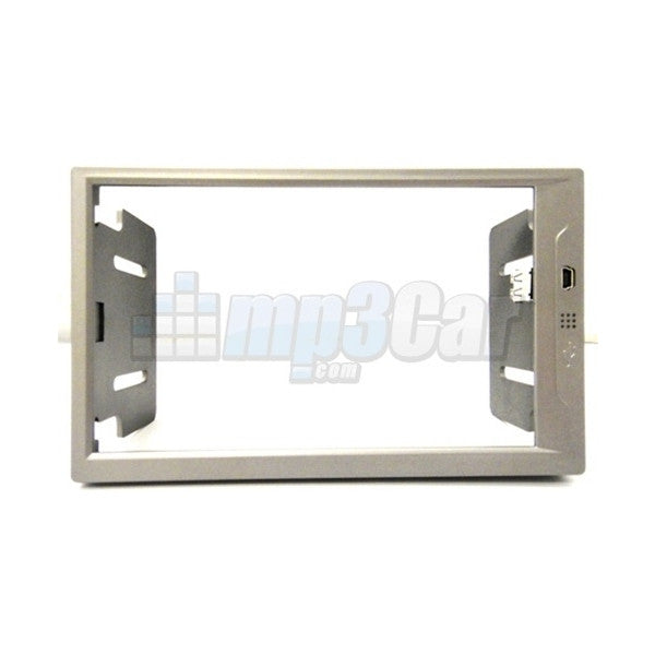 New Medium Silver Double Din ABS Frame For Lilliput 669GL