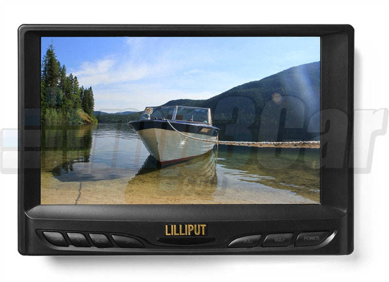 "Lilliput 629GL-70NP/C/T 7"" VGA Touchscreen w/ Auto Back-up Camera Switch"