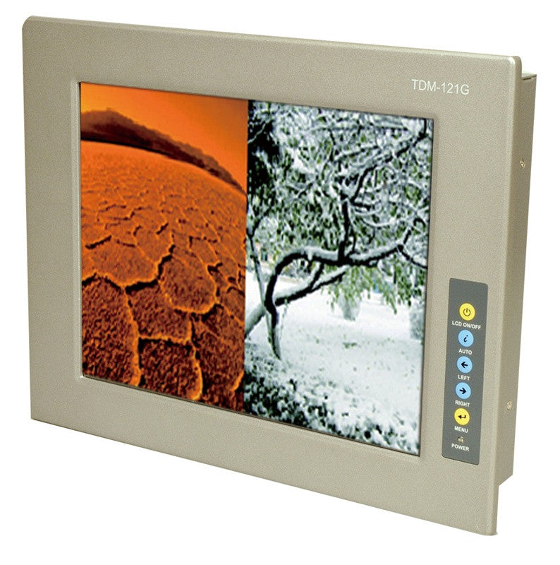 "IEI 15"" Industrial TDM-150GMS XGA LCD Monitor USB Touch Screen 9-36V input"