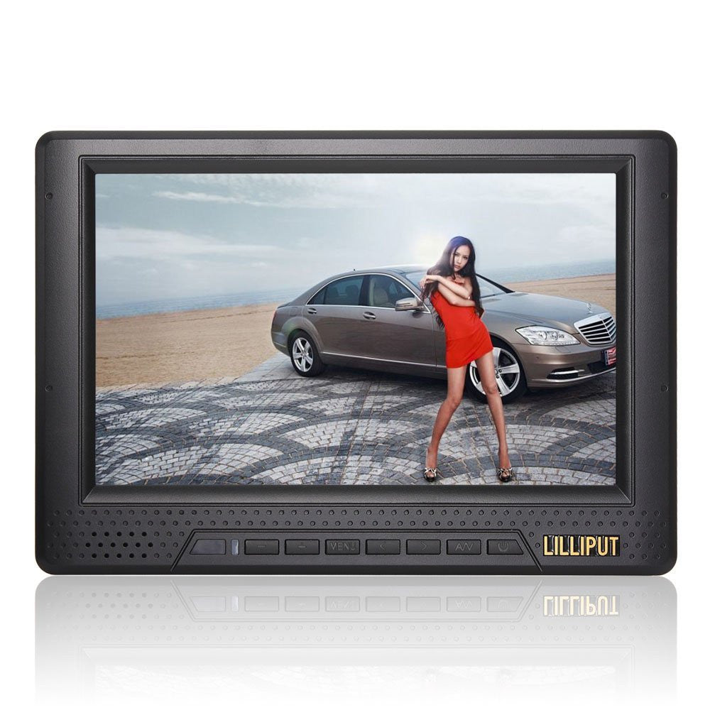 "Lilliput 668GL-NP/H/Y  7"" HDMI Monitor for Video Tripod Use With Battery"