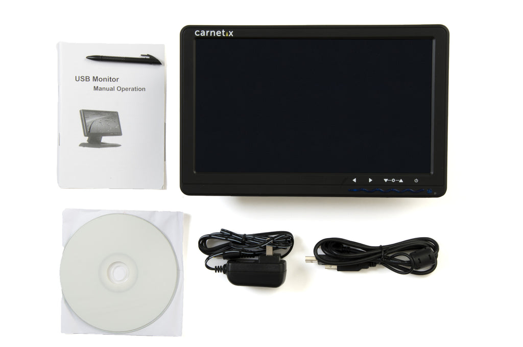 "CarNetix 10.1"" USB-Powered Touch Screen Monitor"