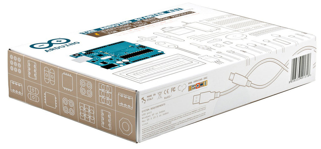 Authentic Arduino Starter Kit (Includes 170-page Arduino Projects Book)