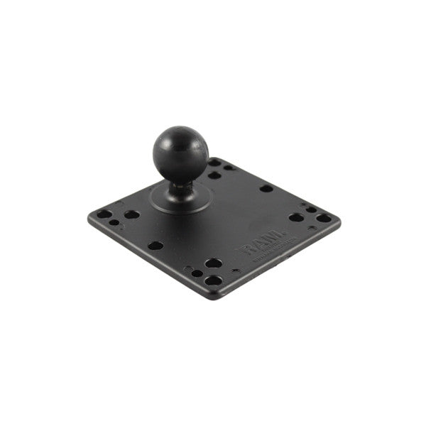 "RAM 4.75"" Square Plate with VESA (4 X 75mm) (4 X 100mm) Hole Patterns & 1.5"" Diameter Ball"