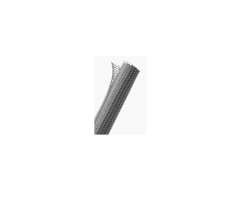 "TechFlex F6N0.25PG25 F6 1/4"" Braided Cable Sleeve, Platinum Gray, 25'"