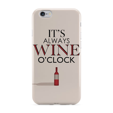 Wine O'clock Phone Case by BJE Art