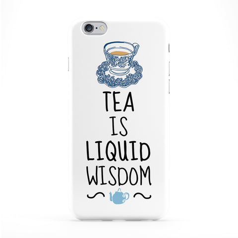 Tea Is Liquid Wisdom Phone Case by BJE Art