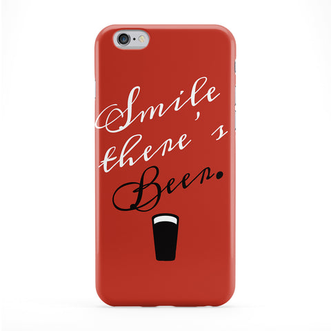 Smile There's Beer Phone Case by BJE Art