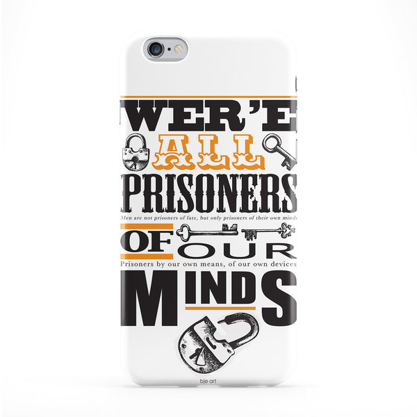 Prisoners Of Our Minds Phone Case by BJE Art