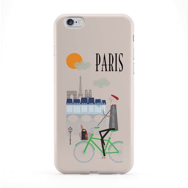 Paris Full Wrap Protective Phone Case by BJE Art