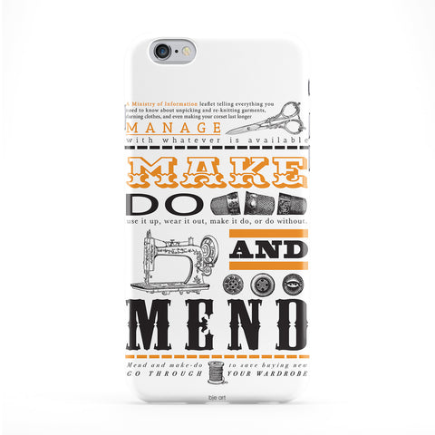 Make Do And Mend Phone Case by BJE Art