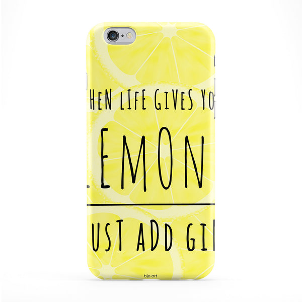 Just Add Gin Phone Case by BJE Art