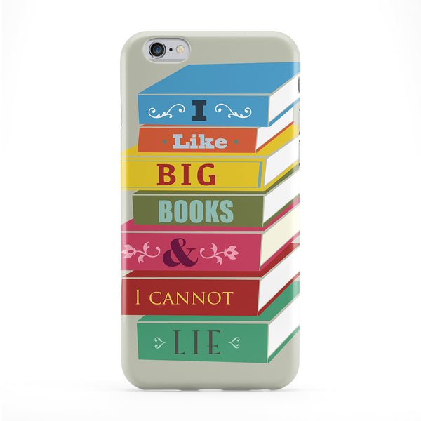 I Like Big Books Full Wrap Protective Phone Case by BJE Art
