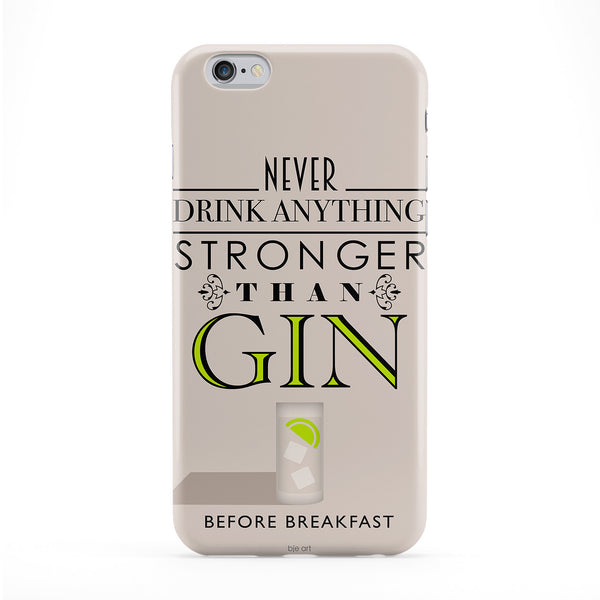 Gin Before Breakfast Full Wrap Protective Phone Case by BJE Art