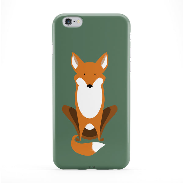 Fox Full Wrap Protective Phone Case by BJE Art