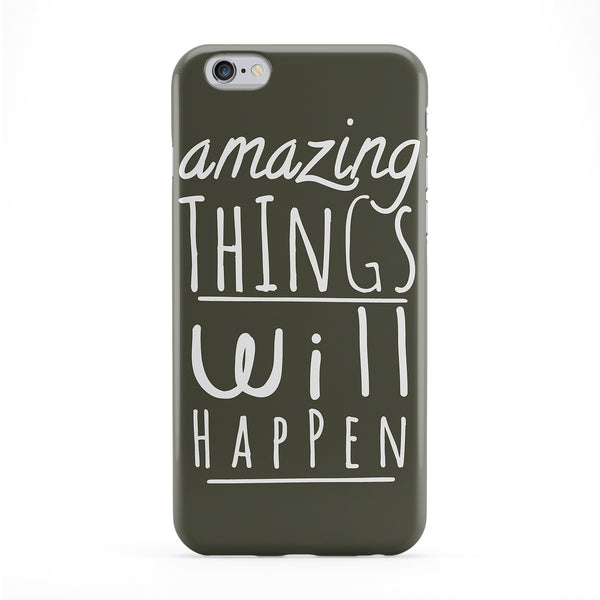 Amazing Things Will Happen Full Wrap Protective Phone Case by BJE Art