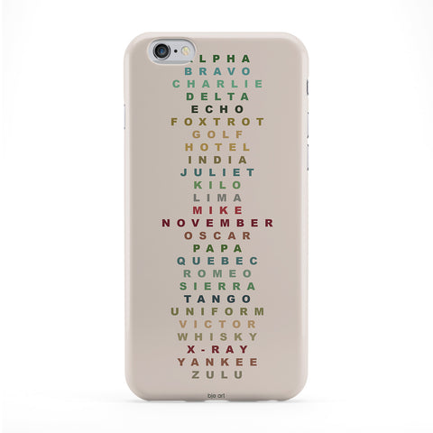 Alphabet Full Wrap Protective Phone Case by BJE Art