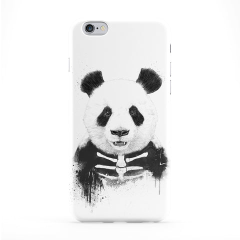 Zombie Panda Full Wrap Protective Phone Case by Balazs Solti