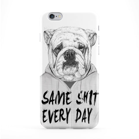 Same Shit Every Day Full Wrap Protective Phone Case by Balazs Solti