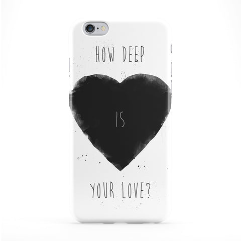 How Deep is Your Love Full Wrap Protective Phone Case by Balazs Solti