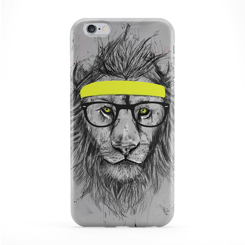 Hipster Lion Full Wrap Protective Phone Case by Balazs Solti