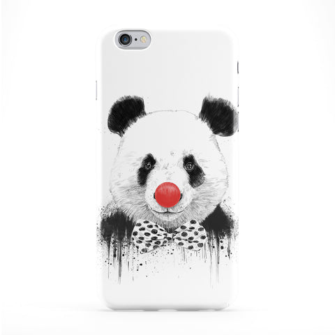 Clown Panda Full Wrap Protective Phone Case by Balazs Solti