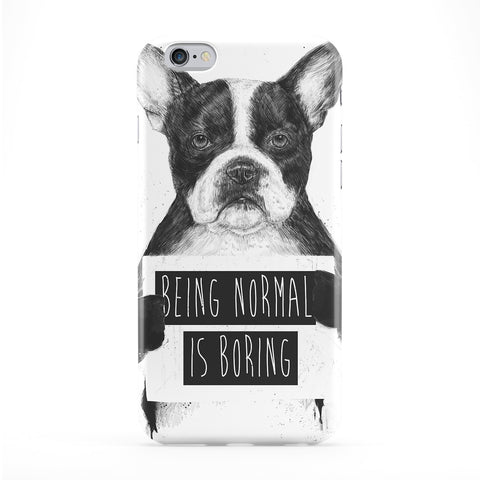 Being Normal is Boring Full Wrap Protective Phone Case by Balazs Solti