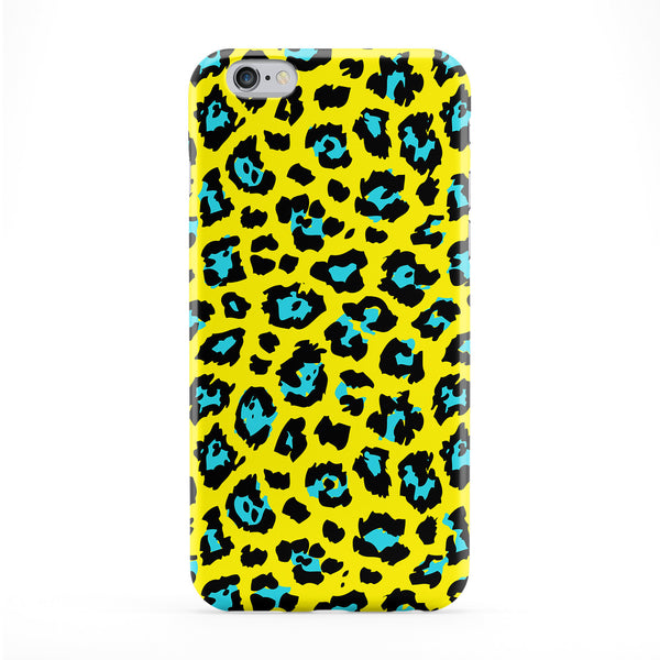 Yellow & Blue Leopard Print Phone Case by BYMBOW
