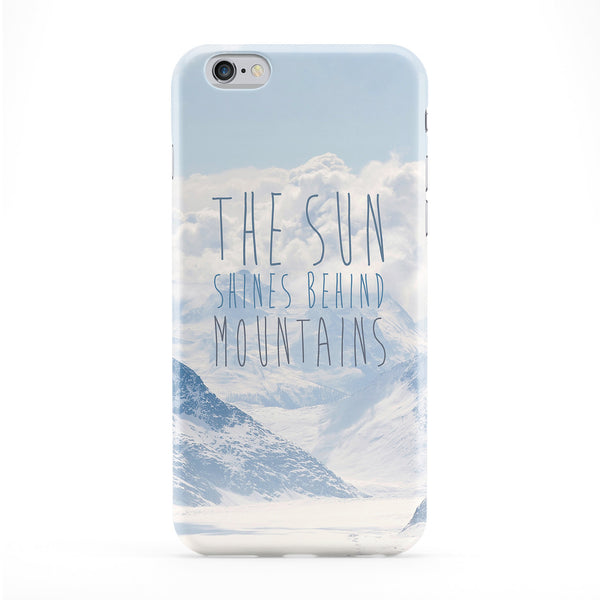 The Sun Shines Behind Mountains Phone Case by BYMBOW