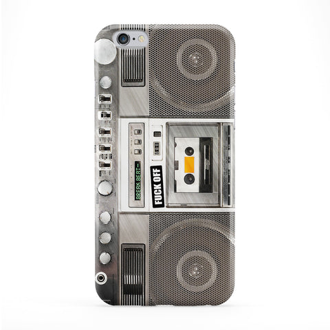 Retro Boombox 02 Full Wrap Protective Phone Case by BYMBOW