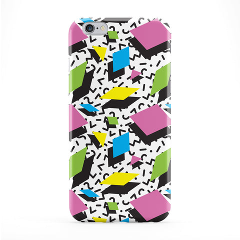 Retro 80s Pattern 04 Full Wrap Protective Phone Case by BYMBOW