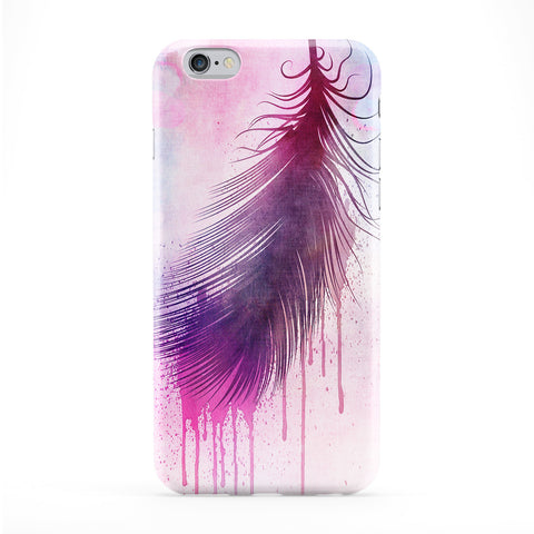 Purple Pink Dripping Feather Phone Case by BYMBOW