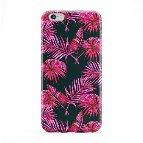 Pink Feathers And Leaves Full Wrap Protective Phone Case by BYMBOW