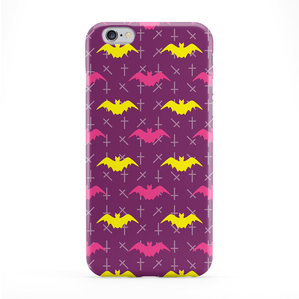 Pink & Yellow Bat Pattern Phone Case by BYMBOW
