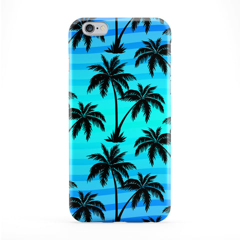 Palm Trees Blue Full Wrap Protective Phone Case by BYMBOW