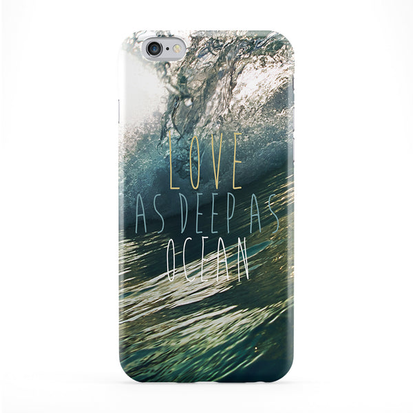 Love As Deep As Ocean Phone Case by BYMBOW