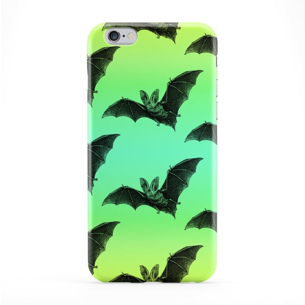 Green Bat Pattern Full Wrap Protective Phone Case by BYMBOW