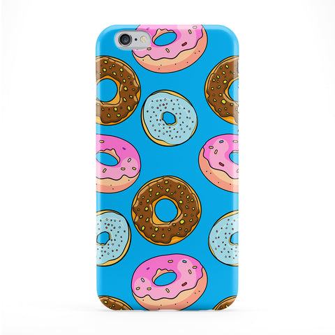 Doughnuts Blue Pattern Phone Case by BYMBOW