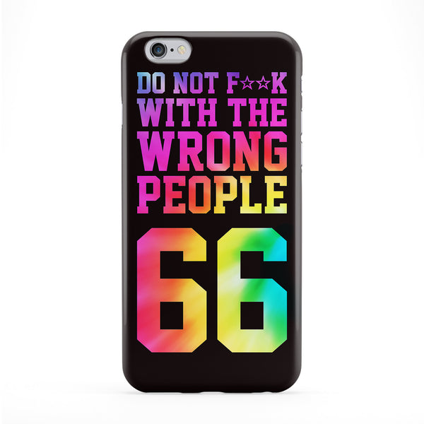Do Not Fxxk with the Wrong People Full Wrap Protective Phone Case by BYMBOW