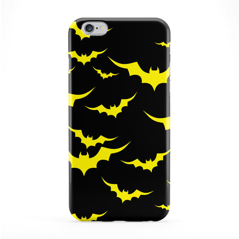 Black Yellow Bat Pattern Phone Case by BYMBOW