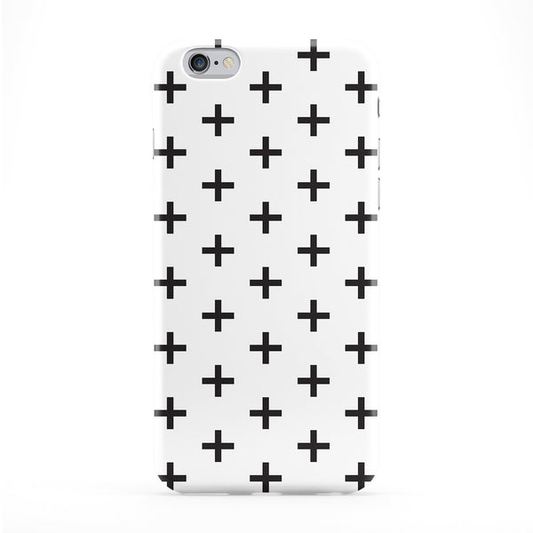 Black White Cross Phone Case by BYMBOW
