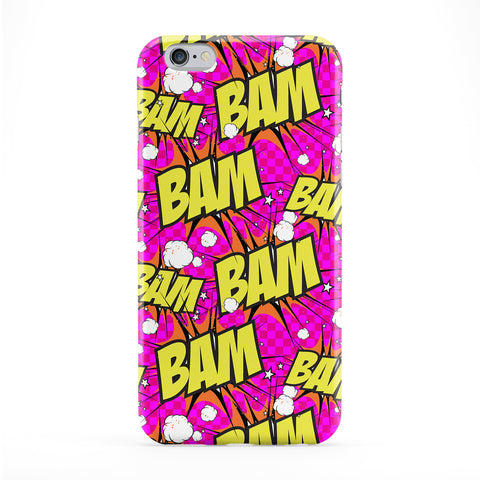 Bam Pink Full Wrap Protective Phone Case by BYMBOW