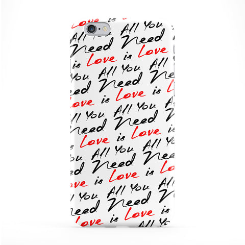 All You Need Is Love Full Wrap Protective Phone Case by BYMBOW
