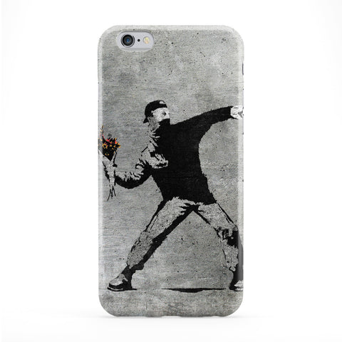 Banksy Flower Thrower Phone Case by Banksy
