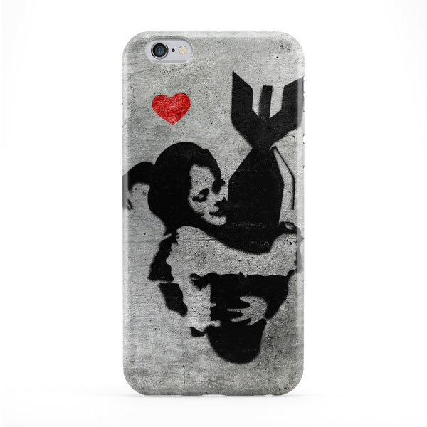 Banksy Girl with Bomb Phone Case by Banksy