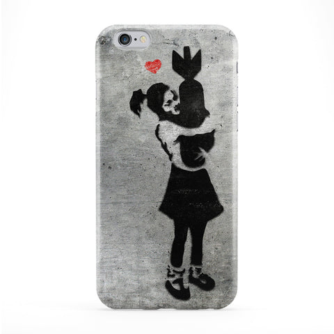 Banksy Girl with Bomb Full Phone Case by Banksy