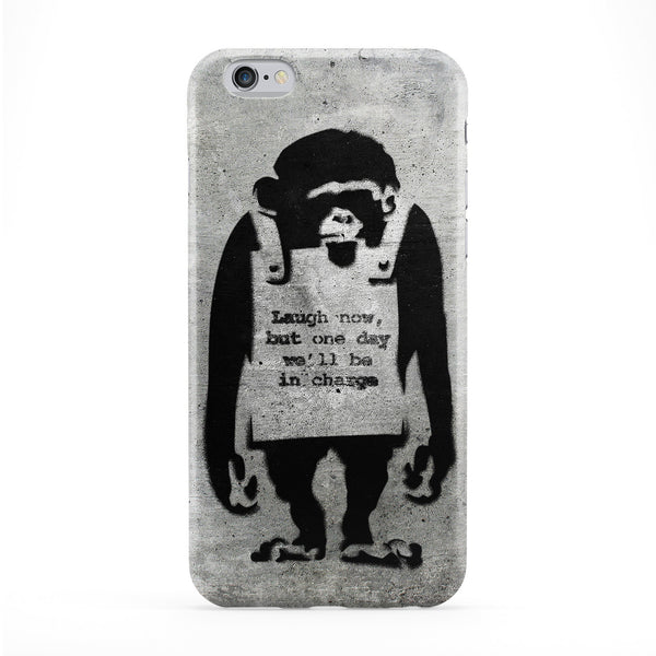 Banksy Laugh Now Phone Case by Banksy