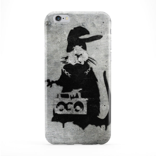 Banksy Music Rat 2 Full Wrap Protective Phone Case by Banksy