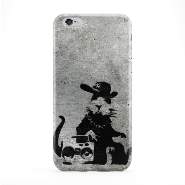 Banksy NY Music Rat Full Wrap Protective Phone Case by Banksy