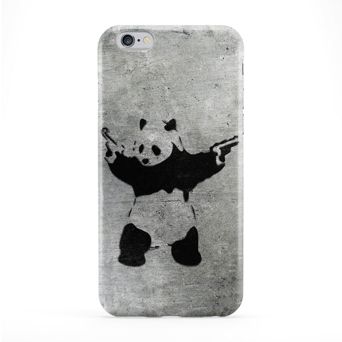 Banksy Panda Full Wrap Protective Phone Case by Banksy