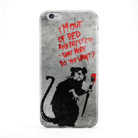 Banksy Rat Out of Bed Phone Case by Banksy
